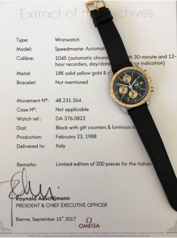 The Holy Grail - Omega Speedmaster 376 0822, Collectors Guide